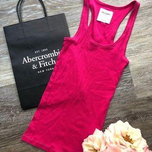 Girls Abercrombie Hot Pink Razorback Tank